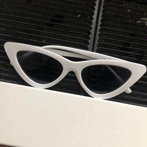 Accessories - White cat eye sunglasses